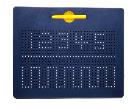 Tabla albastra cu bile si creion magnetic Magnepad pentru pregatirea scrisului0
