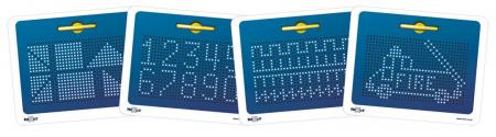 Tabla albastra cu bile si creion magnetic Magnepad pentru pregatirea scrisului2