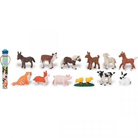 Tub 12 Figurine Pui Animale De Ferma1