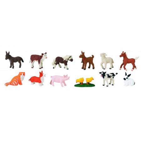 Tub 12 Figurine Pui Animale De Ferma2