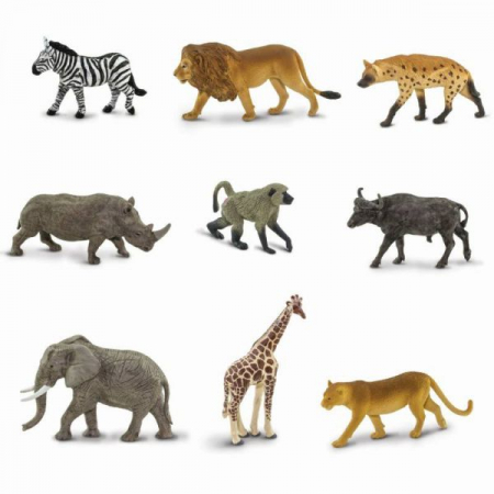 Tub 9 figurine  Animale din Africa1