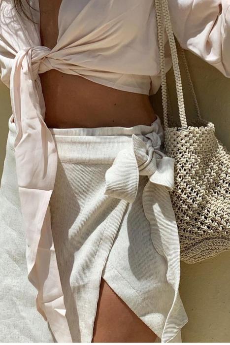 Fusta Belted Wrap Mini [0]
