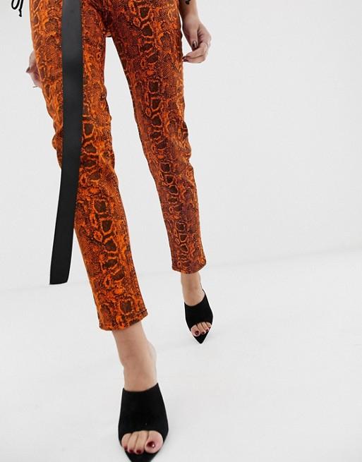 Blugi Neon Snake Skinny Ankle Jeans 3
