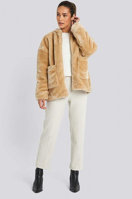 Jacheta Short Front Pocket Faux Fur 0