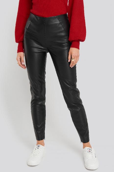 Pantaloni Front Detail Seam Pu [1]