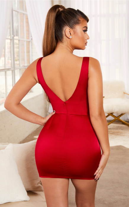 Rochie Steal Your Heart Underwired Satin Mini 3