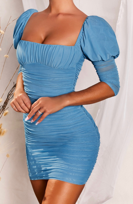 ROCHIE ALL EYES ON YOU PUFF SLEEVE MESH MINI 1