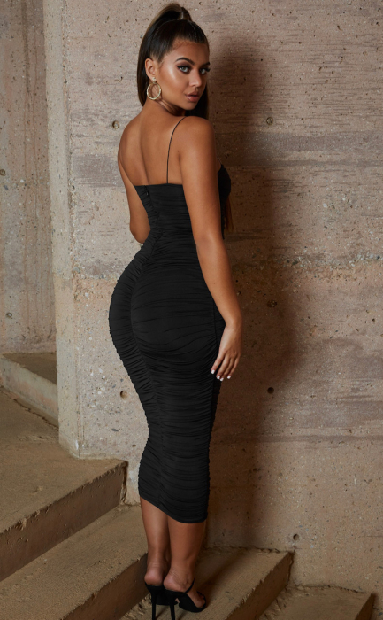 ROCHIE DROP A BOMBSHELL RUCHED MIDAXI 2