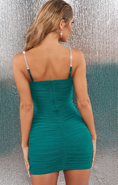 ROCHIE RISE AND SHINE EMBELLISHED BODYCON MINI 1