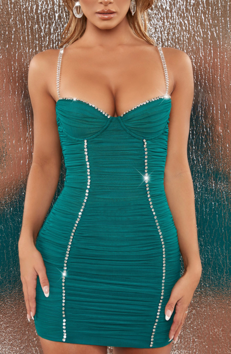 ROCHIE RISE AND SHINE EMBELLISHED BODYCON MINI 2
