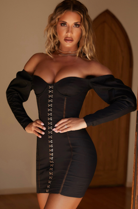ROCHIE HOOKED ON YOU OFF THE SHOULDER PUFF SLEEVE UNDERWIRED [1]