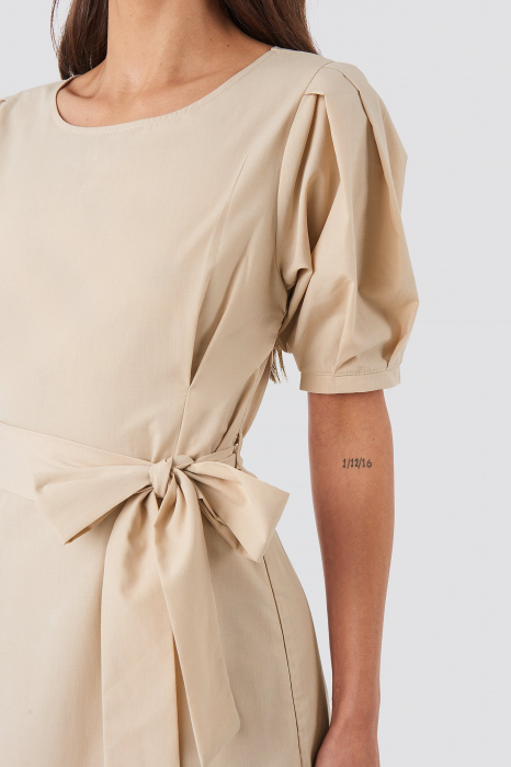 Rochie Puff Sleeve Belted Max [2]