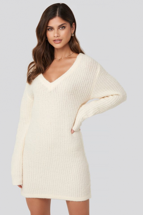 Pulover Oversized Knitted Rochie 1