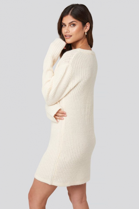 Pulover Oversized Knitted Rochie 2