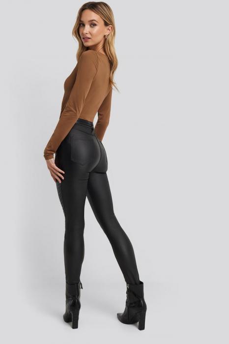 Pantaloni Belt Detail Waxed [3]