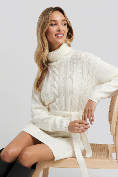 Pulover Cable Knit Detail Rochie [0]