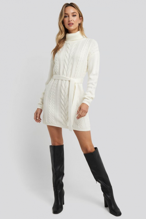 Pulover Cable Knit Detail Rochie [2]