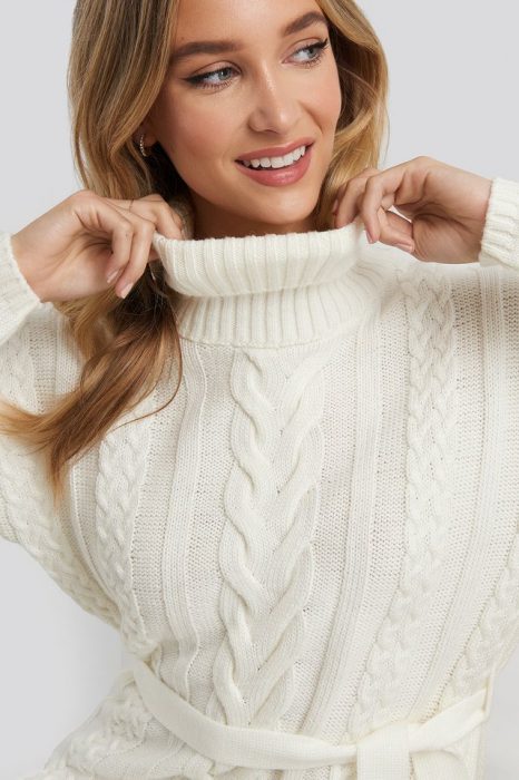 Pulover Cable Knit Detail Rochie [3]