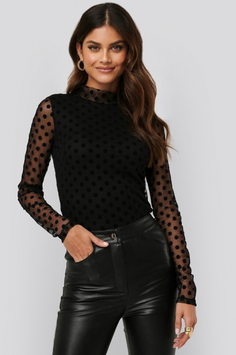 Bluza Dotted mesh top 1