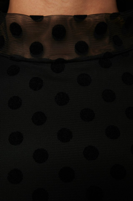Bluza Dotted mesh top 3