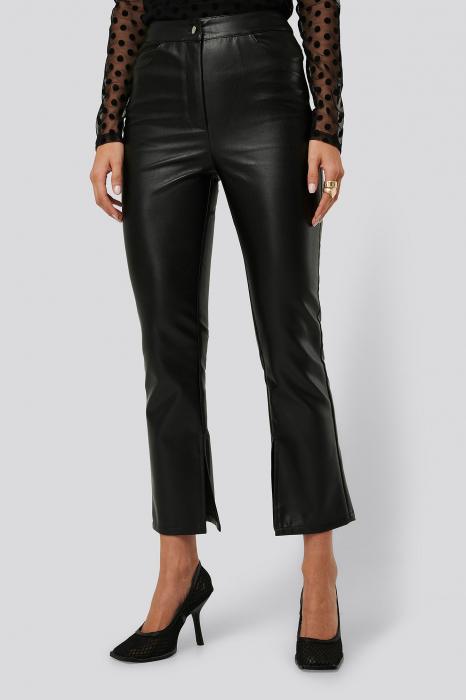 Pantaloni Side Slit Pu [1]
