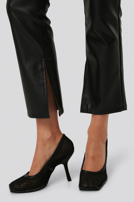 Pantaloni Side Slit Pu [3]