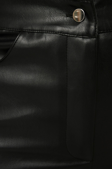 Pantaloni Side Slit Pu [4]