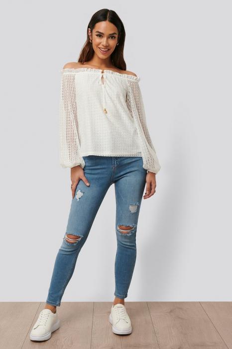Bluza Off Shoulder Ruffle Blouse [2]