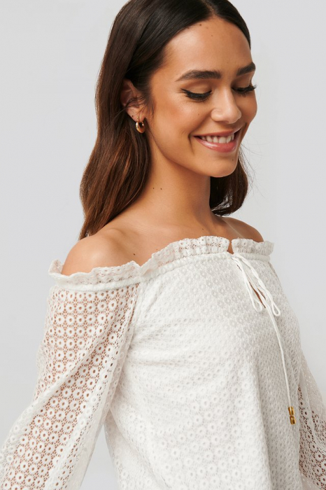 Bluza Off Shoulder Ruffle Blouse [3]