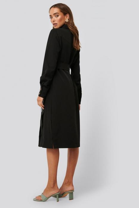 Belted Long Shirt Dress 1