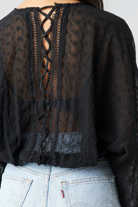 Bluză Lace up back [1]