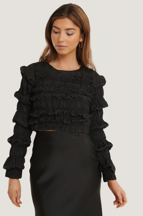 Bluza Shirred Long Sleeve 0