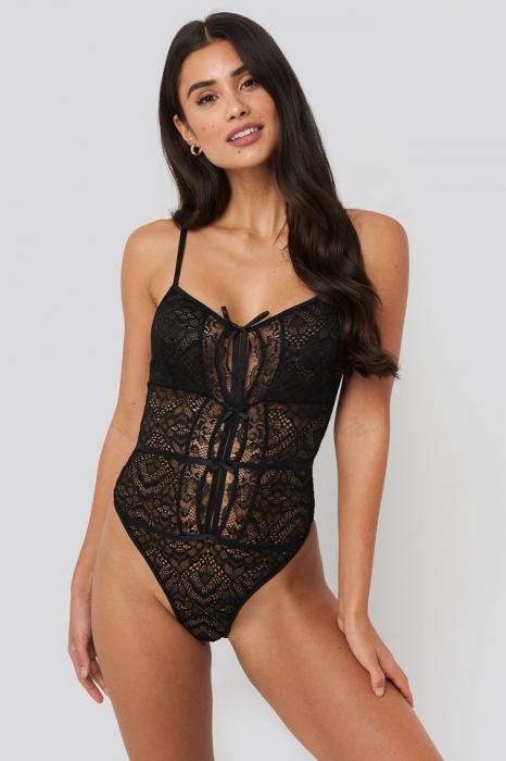 Body Front Detail Lace Bodysuit 0