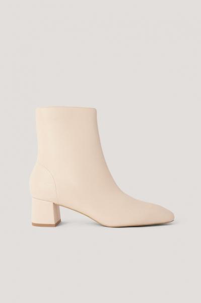 Botine Squared Slanted Toe Low Boots [0]