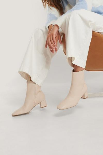 Botine Squared Slanted Toe Low Boots [3]