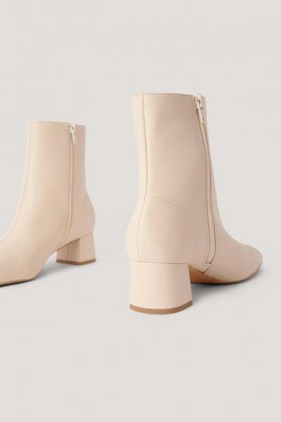 Botine Squared Slanted Toe Low Boots [2]