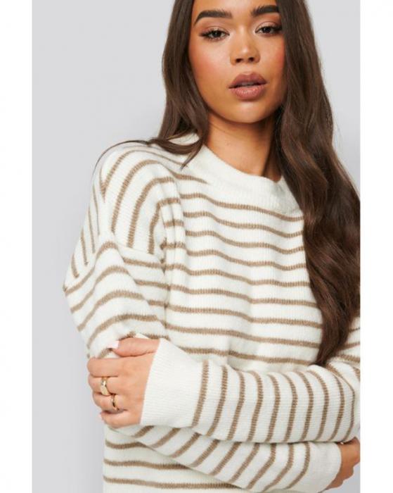 Pulover Striped Round Nedck Knitted Sweater [1]