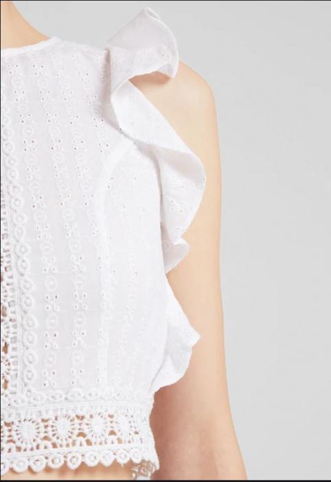 Top Bluza Cropped Schiffli [1]
