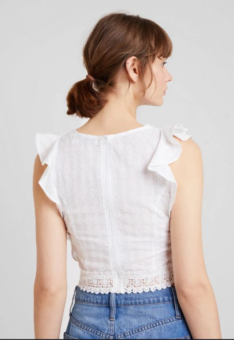 Top Bluza Cropped Schiffli [2]