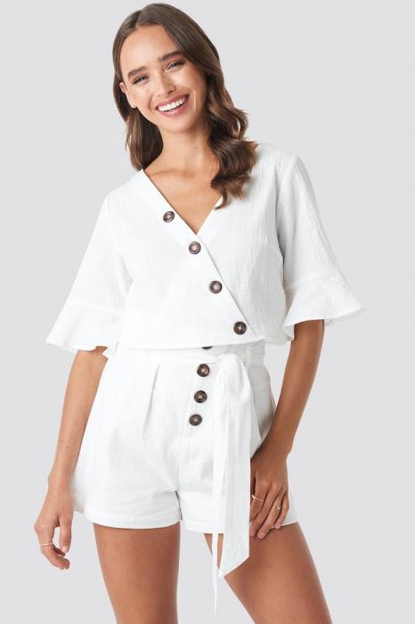 Bluza Flounce Sleeve Buttoned [0]