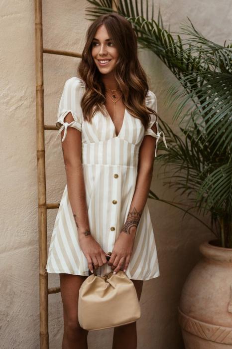 Rochie Button detail mini dress 0