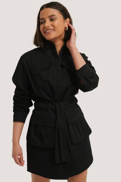 Rochie Tie Front Pocket 2