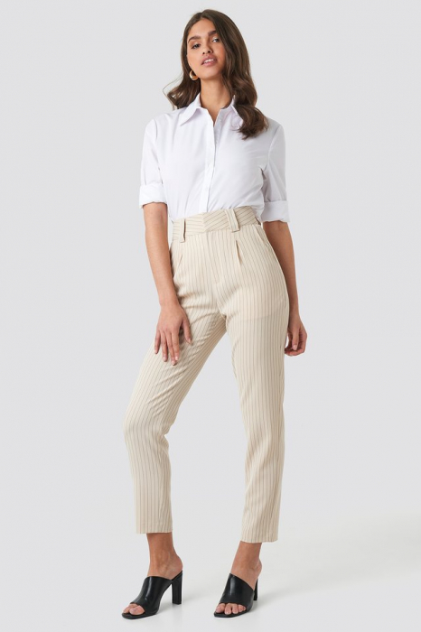 Pantaloni Pinstriped Cigarette 0