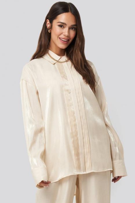 Camasa Shiny Jabot Shirt [0]