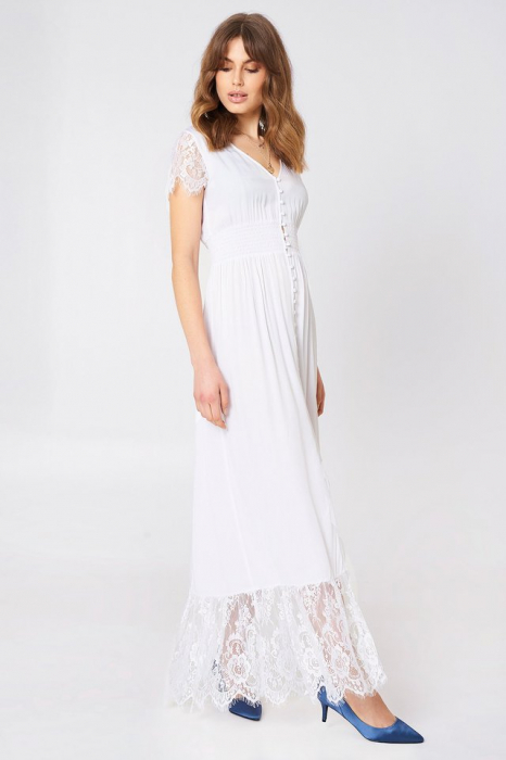 Rochie Buttoned Maxi Lace 2