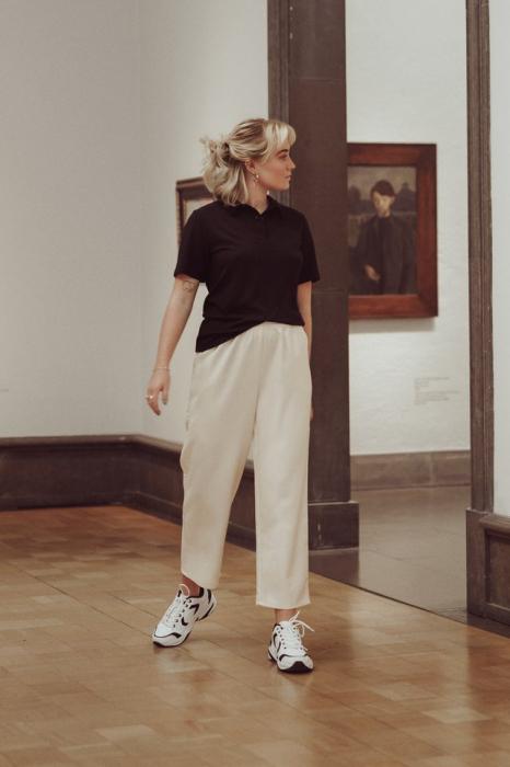 Pantaloni Elastic Waistseam Cropped [0]