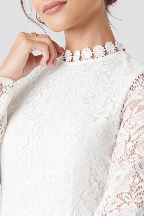 Rochie Crochet Detail Pleated 2