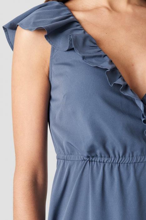 Rochie High Slit Tie Waist Maxi [2]