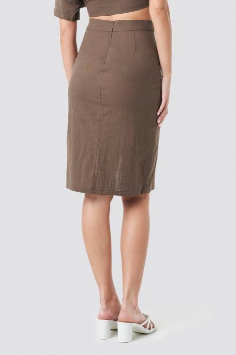 Fusta Overlap Linen Look [2]