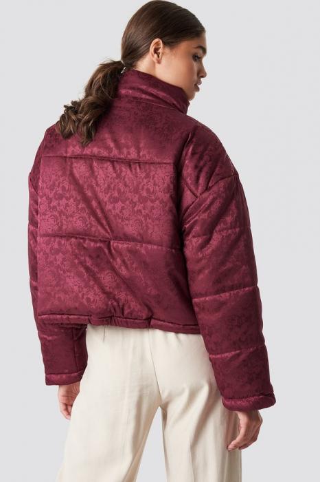 Geaca Shiny Jacquard Puff Jacket [3]